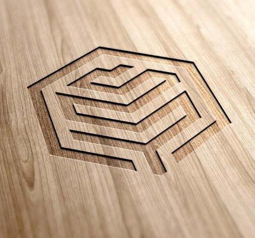 Bay Joinery Logo Mockup Wood