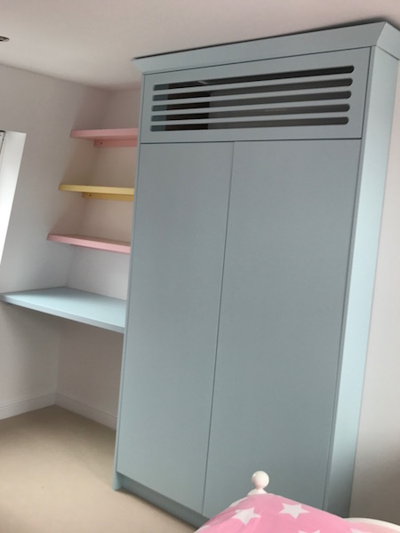 Bay Joinery - Swansea Joinery Service - Bedroom Wardrobes - Bespoke Children's Wardrobe and Shelves 1