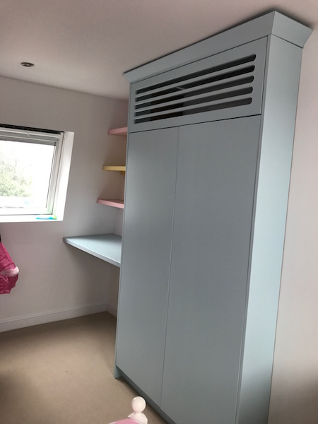 Bay Joinery - Swansea Joinery Service - Bedroom Wardrobes - Bespoke Children's Wardrobe and Shelves 2