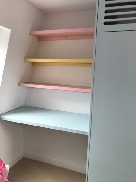 Bay Joinery - Swansea Joinery Service - Bedroom Wardrobes - Bespoke Children's Wardrobe and Shelves 3