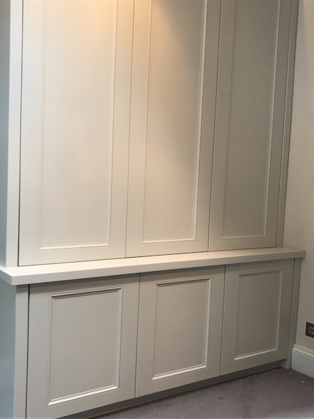 Bay Joinery - Swansea Joinery Service - Bedroom Wardrobes - Bespoke Custom White Wood Wardrobe