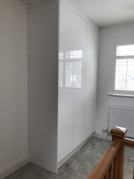 Bay Joinery - Swansea Joinery Service - Bedroom Wardrobes - Bespoke Gloss Finish Wardrobe 4