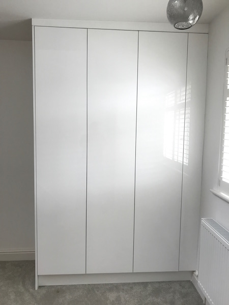 Bay Joinery - Swansea Joinery Service - Bedroom Wardrobes - Bespoke Gloss Finish Wardrobe 7