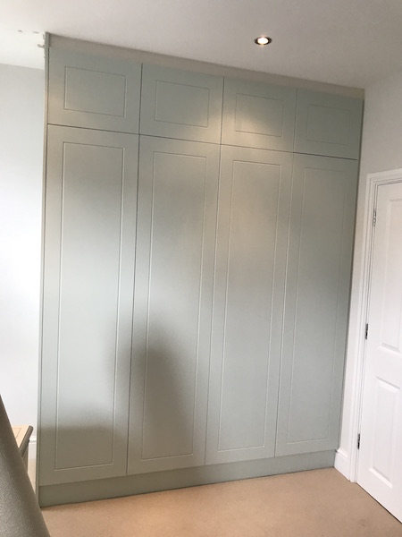 Bay Joinery - Swansea Joinery Service - Bedroom Wardrobes - Bespoke Light Finish Wood Wardrobe 1