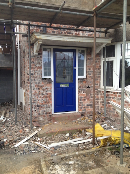 Bay Joinery - Swansea Joinery Service - Doors - Blue Wooden Door