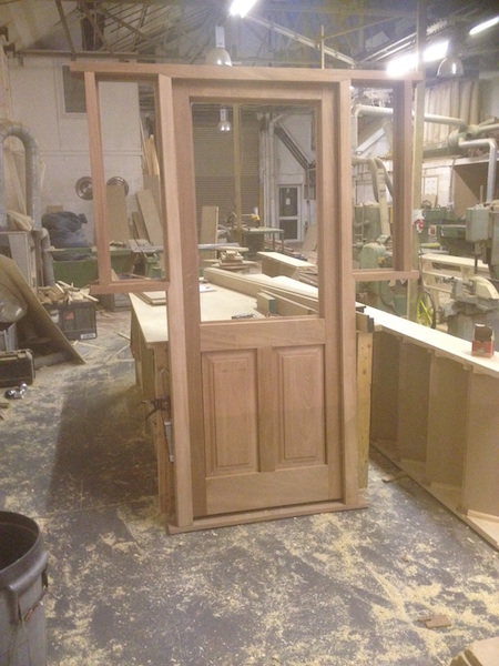 Bay Joinery - Swansea Joinery Service - Doors - Single Wooden Door with Extened Windows