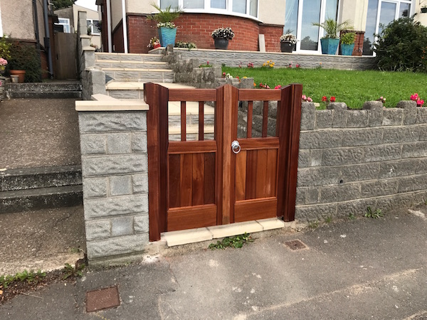 Bay Joinery - Swansea Joinery Service - Gates - Small Dark Finish Wooden Gate 1