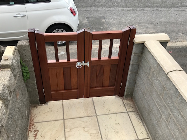Bay Joinery - Swansea Joinery Service - Gates - Small Dark Finish Wooden Gate 2