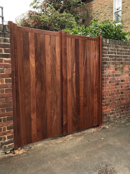 Bay Joinery - Swansea Joinery Service - Gates - Wooden Dark Finish Gate