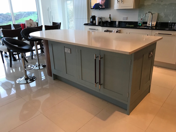Bay Joinery - Swansea Joinery Service - Kitchens - Bespoke Kitchen Centre Piece Unit 1