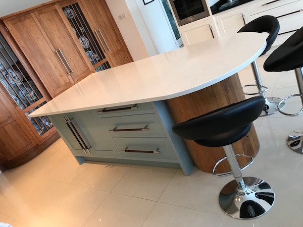 Bay Joinery - Swansea Joinery Service - Kitchens - Bespoke Kitchen Centre Piece Unit 3