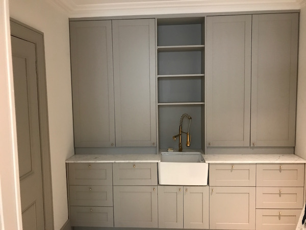 Bay Joinery - Swansea Joinery Service - Kitchens - Light Grey Bespoke Kitchen 1