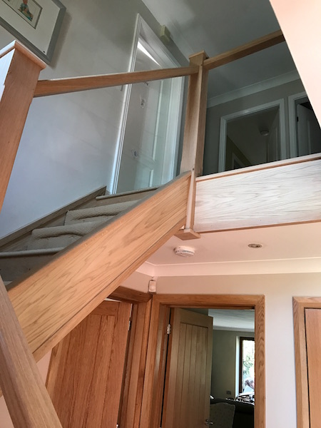 Bay Joinery - Swansea Joinery Service - Stair Refurbishements - Bespoke Glass Balustrading 1