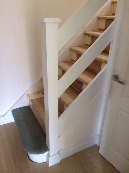 Bay Joinery - Swansea Joinery Service - Stair Refurbishements - White Wooden Stairs 1