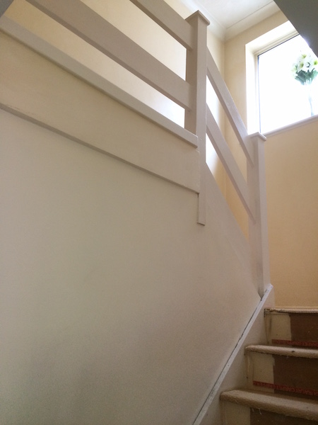 Bay Joinery - Swansea Joinery Service - Stair Refurbishements - White Wooden Stairs 2