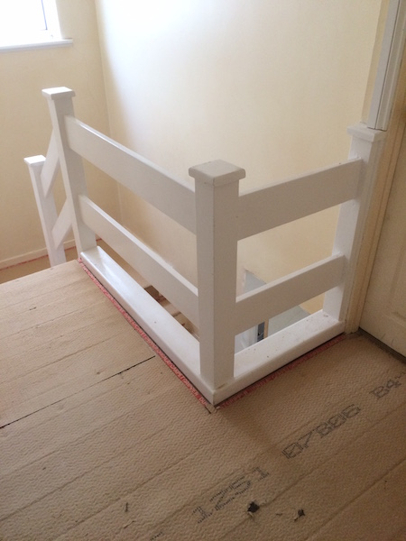 Bay Joinery - Swansea Joinery Service - Stair Refurbishements - White Wooden Stairs 3
