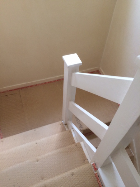 Bay Joinery - Swansea Joinery Service - Stair Refurbishements - White Wooden Stairs 4