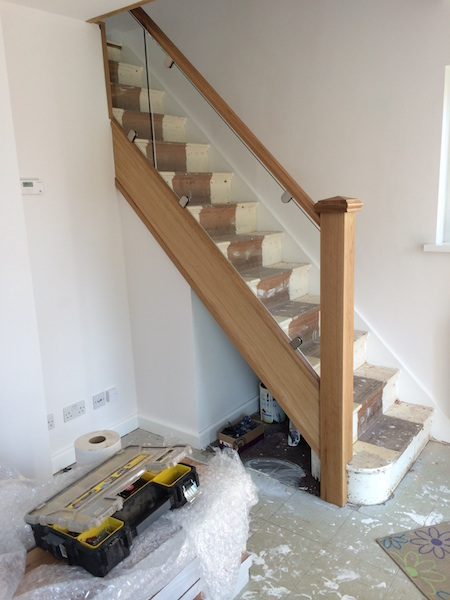 Bay Joinery - Swansea Joinery Service - Stair Refurbishements - Wood and Glass Balustrading 2