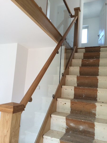 Bay Joinery - Swansea Joinery Service - Stair Refurbishements - Wood and Glass Balustrading 3