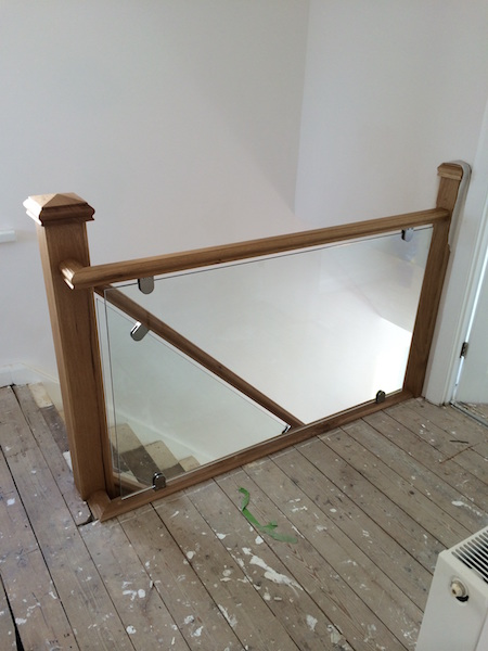 Bay Joinery - Swansea Joinery Service - Stair Refurbishements - Wood and Glass Balustrading 4