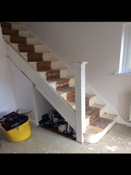 Bay Joinery - Swansea Joinery Service - Stair Refurbishements - Wood and Glass Balustrading 6