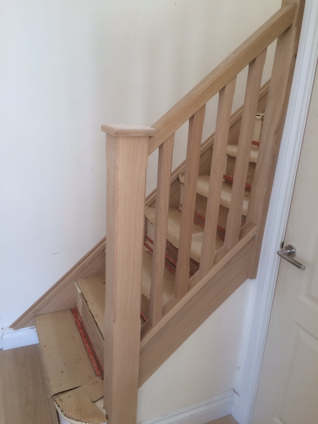 Bay Joinery - Swansea Joinery Service - Stair Refurbishements - Wooden Balustrading 1