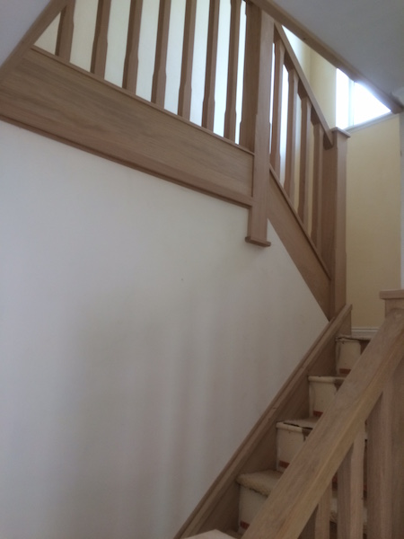 Bay Joinery - Swansea Joinery Service - Stair Refurbishements - Wooden Balustrading 2