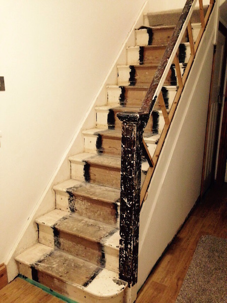 Bay Joinery - Swansea Joinery Service - Stair Refurbishements - Wooden Stair Rail 1