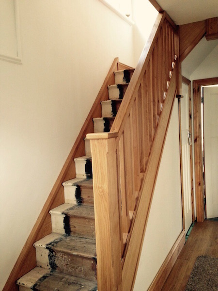 Bay Joinery - Swansea Joinery Service - Stair Refurbishements - Wooden Stair Rail 2