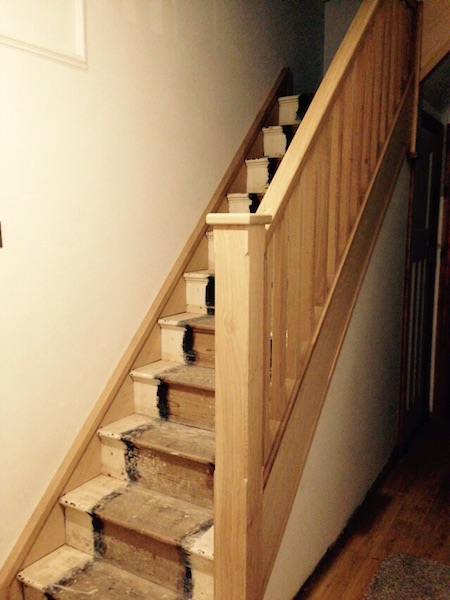 Bay Joinery - Swansea Joinery Service - Stair Refurbishements - Wooden Stair Rail 3