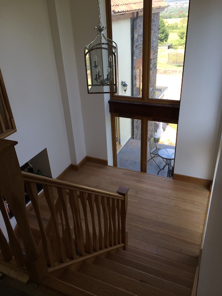 Bay Joinery - Swansea Joinery Service - Stairs - Light Wood 2 Flight Stairs & Balustrading 2