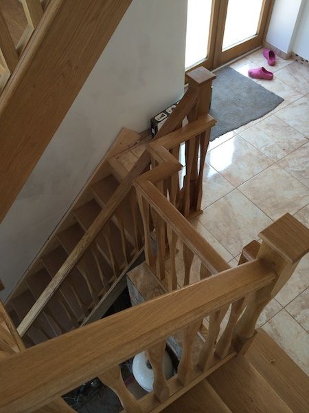 Bay Joinery - Swansea Joinery Service - Stairs - Light Wood 2 Flight Stairs & Balustrading 3