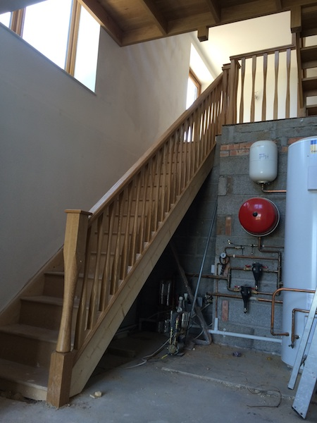 Bay Joinery - Swansea Joinery Service - Stairs - Light Wood 2 Flight Stairs & Balustrading 4