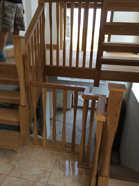 Bay Joinery - Swansea Joinery Service - Stairs - Light Wood 2 Flight Stairs & Balustrading 5