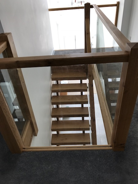 Bay Joinery - Swansea Joinery Service - Stairs - Light Wood & Glass Balustrading Stairs 1
