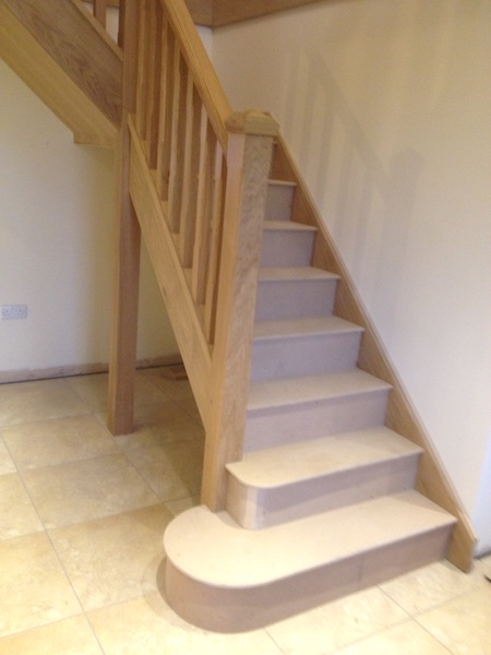 Bay Joinery - Swansea Joinery Service - Stairs - Light Wood Stairs & Balustrading 1