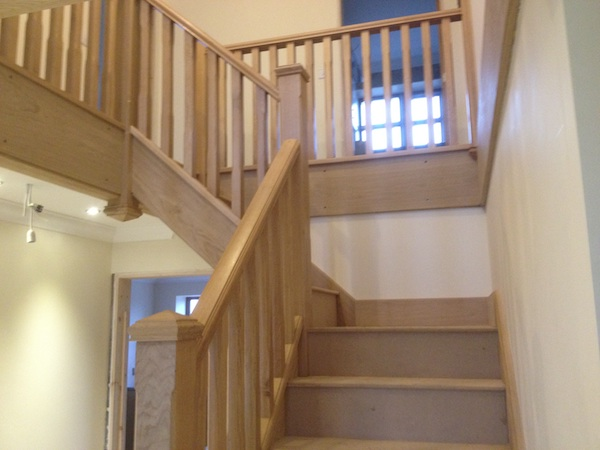 Bay Joinery - Swansea Joinery Service - Stairs - Light Wood Stairs & Balustrading 2