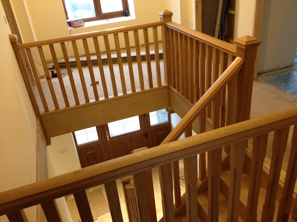 Bay Joinery - Swansea Joinery Service - Stairs - Light Wood Stairs & Balustrading 3
