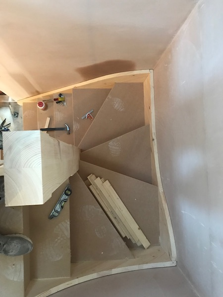 Bay Joinery - Swansea Joinery Service - Stairs - Light Wood Stairs Process 1