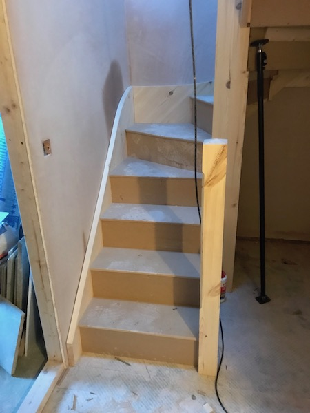 Bay Joinery - Swansea Joinery Service - Stairs - Light Wood Stairs Process 2