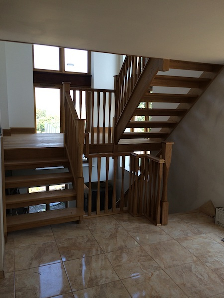 Bay Joinery - Swansea Joinery Service - Stairs - Medium Dark Wood Stairs & Balustrading 1