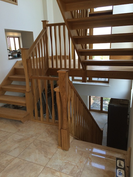 Bay Joinery - Swansea Joinery Service - Stairs - Medium Dark Wood Stairs & Balustrading 2