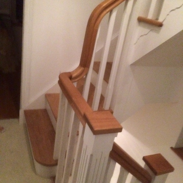 Bay Joinery - Swansea Joinery Service - Stairs - White & Brown Wood Stairs 1