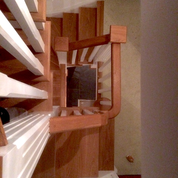 Bay Joinery - Swansea Joinery Service - Stairs - White & Brown Wood Stairs 2