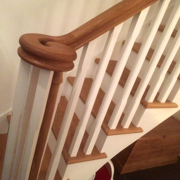 Bay Joinery - Swansea Joinery Service - Stairs - White & Brown Wood Stairs 3