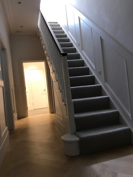 Bay Joinery - Swansea Joinery Service - Stairs - White & Dark Brown Wood Stairs 1