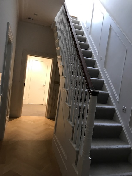 Bay Joinery - Swansea Joinery Service - Stairs - White & Dark Brown Wood Stairs 2
