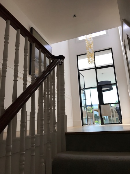 Bay Joinery - Swansea Joinery Service - Stairs - White & Dark Brown Wood Stairs 4