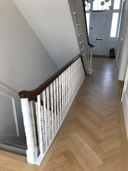 Bay Joinery - Swansea Joinery Service - Stairs - White & Dark Brown Wood Stairs 5