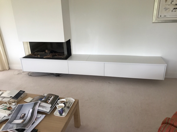 Bay Joinery - Swansea Joinery Service - Storage - Bespoke Fireplace Storage 1